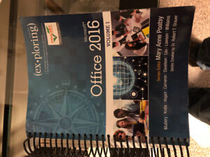 For Sale:Microsoft Office 2016 textbook
