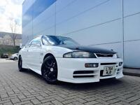 1993 L Nissan Skyline R33 2.5 GTST Turbo Manual + WHITE + VEILSIDE BODY KIT