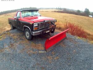 FORD F 150 1983 YARD TRUCK WITH PLOW