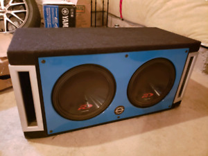 "BASEWORX Dual 10"" ported box w/Alpine R subs"