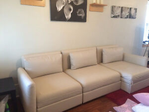 IKEA Vallentuna couch - 3 piece sectional - Cream