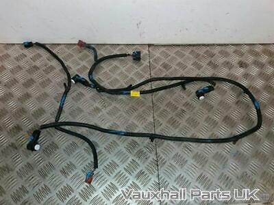 2013 Vauxhall Antara Front Bumper PDC Parking Sensor Wiring Loom + 3 Sensors