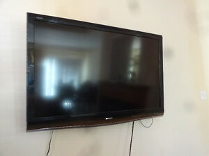 "TV for sale: 52"", SHARP AQUOS, 1080P...wall mount included"