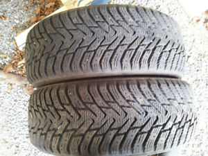 195 60 r 15 Four winter tires for sale,no rims.