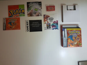 Vintage Pokemon Fire Red Game With Original Box!