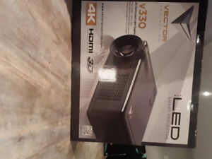 HD Projector and 72 inch screen. Brand New and Never used!