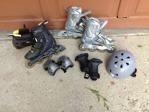 Mens and Ladies Roller Blades and all Safety Equipment