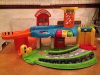 Vtech Toot Toot Driver Garage & Toot Toot Drivers Press & Go Launcher plus additional cars