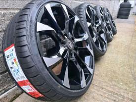 "18"" Wolfrace assassin alloy wheels 4x100 Corsa Astra Clio Suzuki swift"