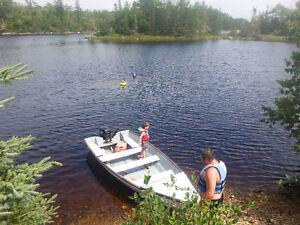 16 ft fibreglass boat and motor