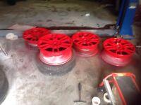 Vw Honda Vauxhall alloy wheels 4x100 and tyres