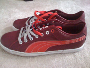PUMA Leather Shoe - Red - Brand New