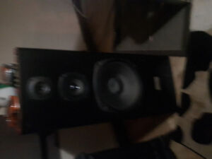 2   ( 3way )  727  Kenwood tower speakers excellent condition.