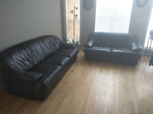 Leather couch and loveseat. $500/pair. O.b.o. 2266062679.