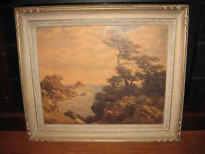 OIL PAINTING IN FRAME OF LANDSCAPE UNKNOWN ARTIST $50