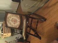 Antique fold up rocking nursing chair