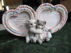 """""""KITTENS BOY AND GIRL COUBLE PHOTO FRAME"""" BY ENESCO CORP."""
