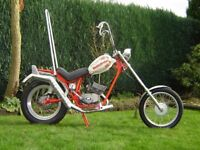 Fantic Chopper Moped. Rebuilt from new and one-off parts. Sensible modifications. Very, very rare.
