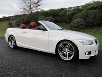 2012 BMW 320d SPORT PLUS * CONVERTIBLE *FULL RED LEATHER*184 BHP