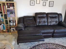 Leather Recliner 3 Seater