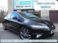 2010 (60) HONDA CIVIC 1.8 i-VTEC Si, FULL LEATHER/SUEDE SEATS, BLUETOOTH PHONE +