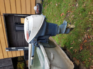 2 12ft. Aluminum boats with motor and gas tank