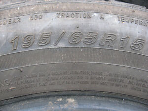 "15""  Pair of Touring Tires  195/ 65 / R15 Cambridge Kitchener Area image 3"
