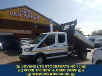 2017 17 FORD TRANSIT CREWCAB 1 STOP TIPPER 2017/17 REG NEW EURO 6 ENGINE DIESEL