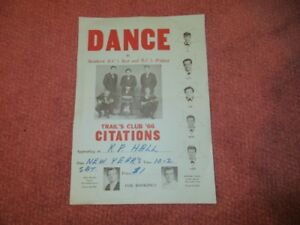 VINTAGE POSTER OF THE BAND CITATIONS 1966 $35