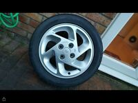 Ford Escort RS Turbo Alloy Wheel and new tyre.