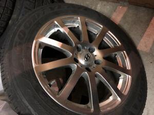 Mags avec pneu d'hiver Hyundai genesis