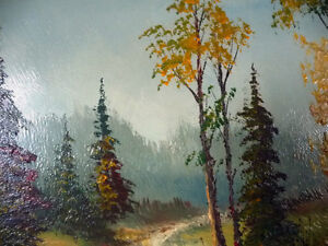 """Oil Painting by Listed Artist Paul Hyttinen """"A Forest Path"""" 1950 Stratford Kitchener Area image 3"""