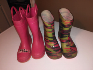Size 9 and 10 rainboots