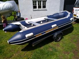 Inflatable 3.85m dinghy aluminium floor