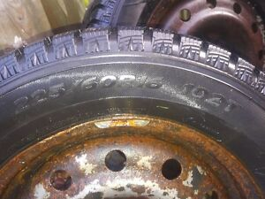225 60 R16 102T Hankook Ice Pike winter tires for sale on rims Kitchener / Waterloo Kitchener Area image 2