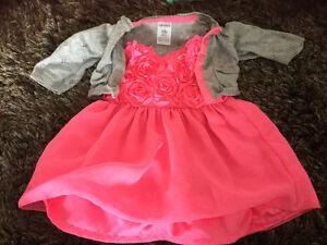 EUC newborn size dress with cardigan