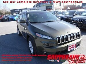 2015 Jeep Cherokee NorthHtd Seats/Steering, Rmt start,  8.4-in T