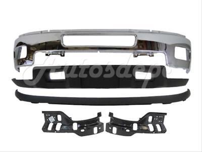 For 2011-2013 Silverado 2500HD 3500 Front Bumper Bracket Air Deflector W/Fog 5P