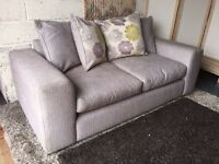 New Furniture Village Fabric 3-Seater Sofa with Scatter Back Cushions