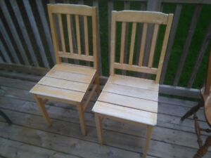 2 More Matching Wooden Chairs!