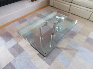 Table salon verre contemporain
