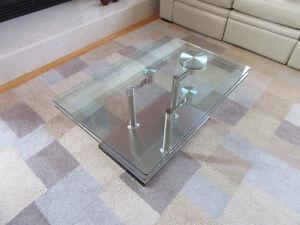 Table salon verre contemporain