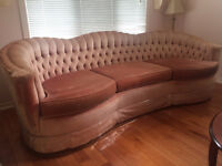 Vintage Style:  Sofa  AND  Loveseat