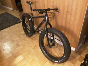 Rocky Mountain Fatbike with studded tires and boots