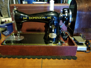 Very Powerful Vintage Dominion Sewing Machine