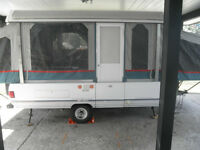 beautiful well cared for Coleman tent trailer