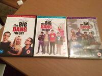 Big Bang Theory Seasons 1, 2 and 3