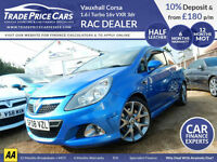 GUARANTEED CAR FINANCE Vauxhall Corsa 1.6 i Turbo 16v VXR 3dr - RAC DEALER