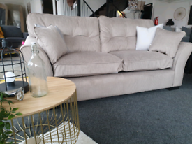 NEW Louis Taupe Mink 3 Seater Sofa DELIVERY AVAILABLE