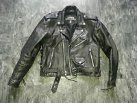 2 Mens Heavy Leather Motorcycle Jackets